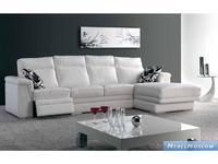 M.Soria: Lisboa: диван с оттоманкой четырехместный с реклайнером кожа