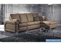 M.Soria: Norma-1: диван с оттоманкой четырехместный кожа