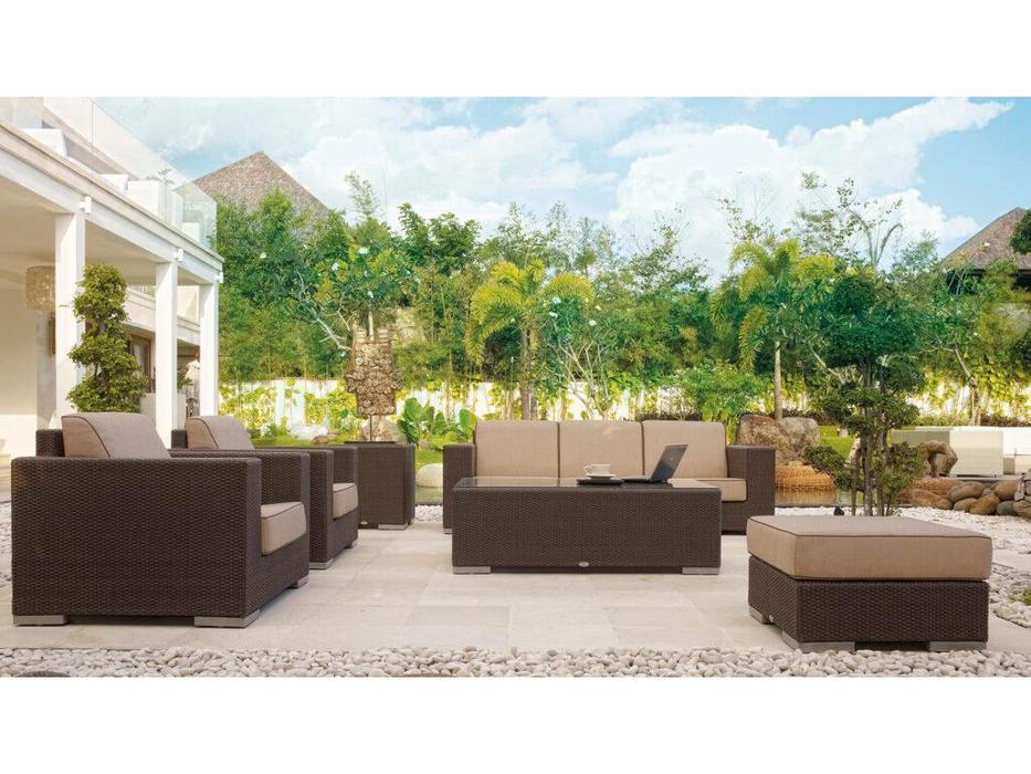 Skylinedesign: Cuatro: диван с подушками  (MOCCA CANVASS VELUM 5498)