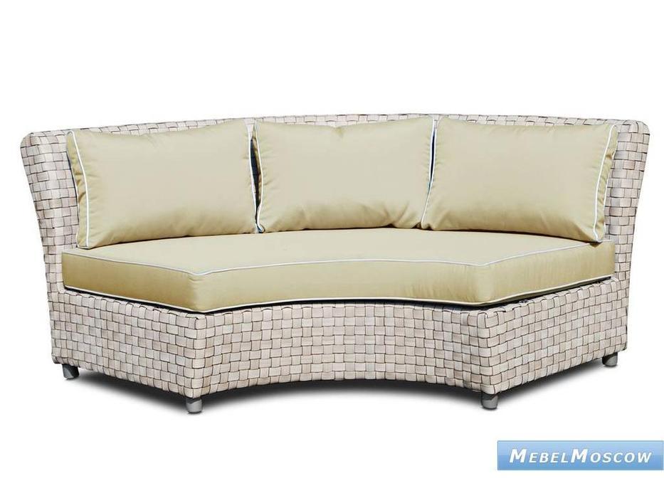 Skylinedesign: Florence: диван центральный с подушками  (SILVER WALNUT CANVASS VELUM 5498)