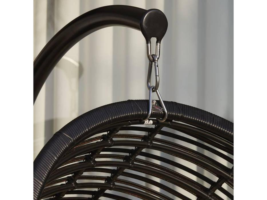 Skylinedesign: Mercy: кресло-качалка с подушками  (BLACK MUSHROOM CANVASS VELUM 5498)