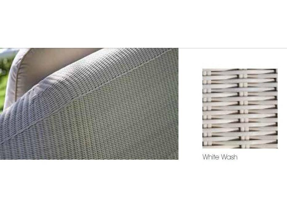 Skylinedesign: Calderan: кресло с подушками  (WHITE WASH)