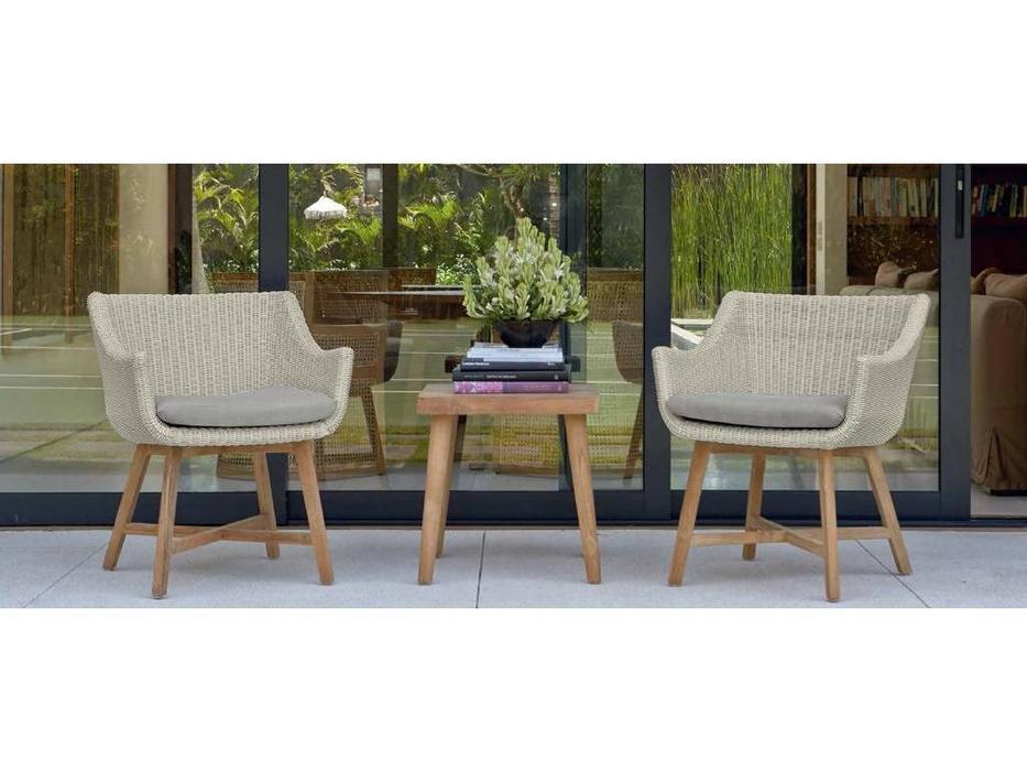Skylinedesign: Pob: кресло для стола с подушкой  (WHITE WASH)