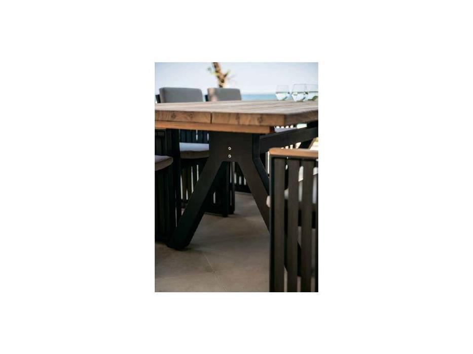Skylinedesign: Alaska: стол обеденный  (NATURAL-CARBON MATTE)