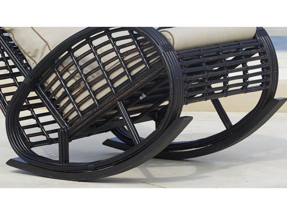Skylinedesign: Taurus: кресло-качалка  с подушками (BLACK MUSHROOM)