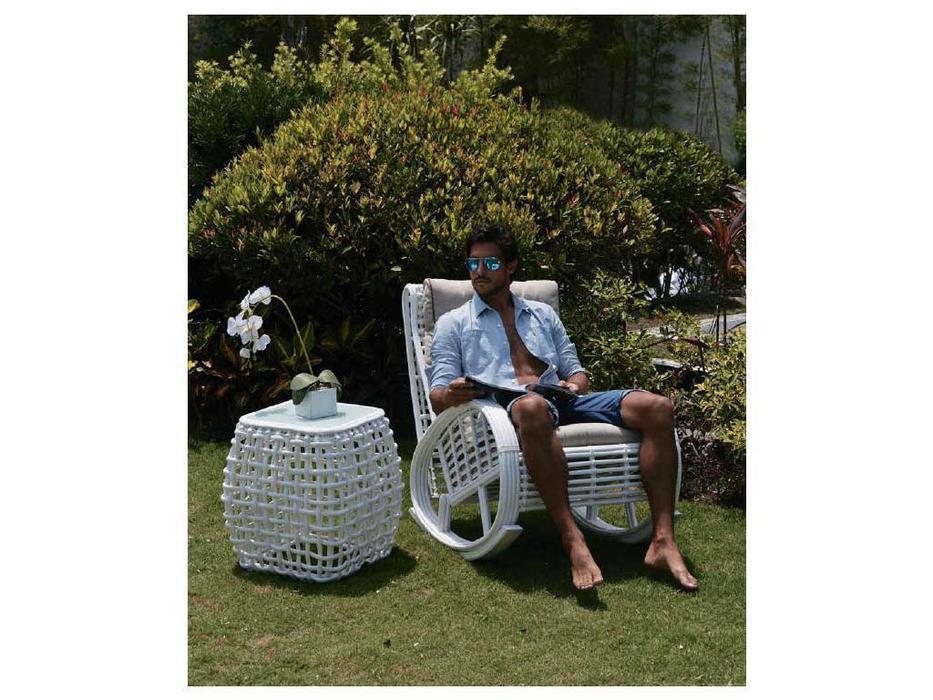 Skylinedesign: Taurus: кресло-качалка  с подушками (WHITE MUSHROOM)