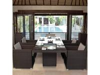 Skylinedesign: Pacific: стол обеденный со стеклом  (MOCCA)