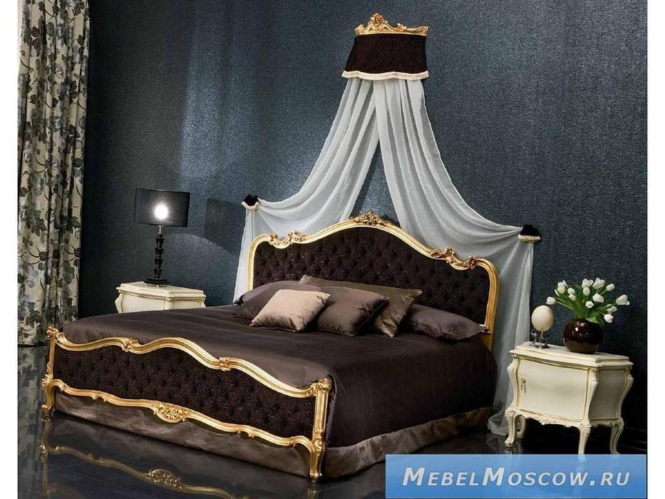 Silik: Asea: кровать 180х200 ткань  (золото)