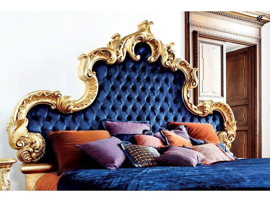 Silik: Aura: кровать 240х210  (золото/ткань)
