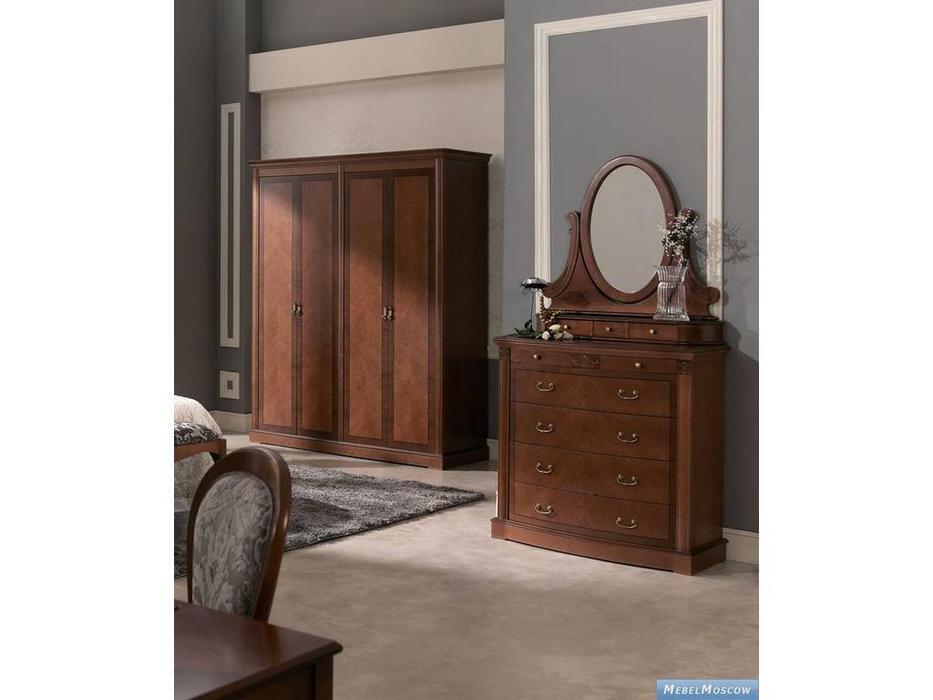 Panamar: Classic: шкаф 4-х дверный  (орех)