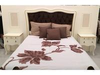 Panamar: Classic: кровать 140х200  (белый, золото)