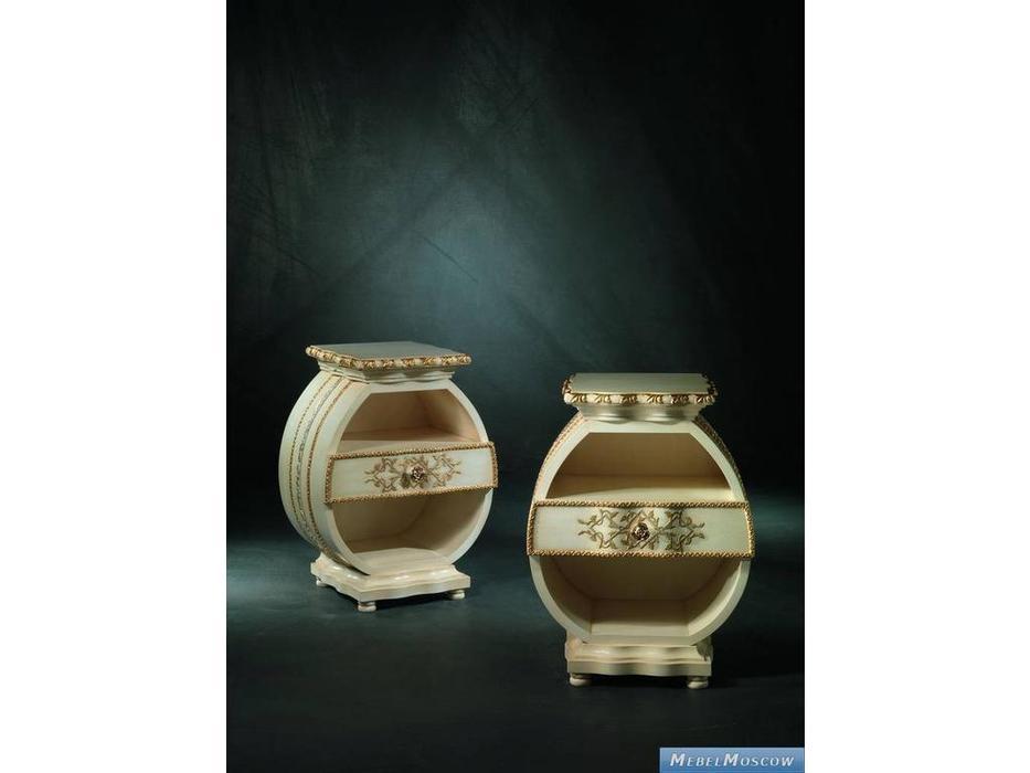 Carpanelli: Uovo: тумба прикроватная  (слоновая кость, золотая фольга)
