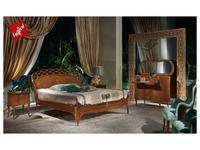 Carpanelli: Glam: кровать двуспальная  182х202 (шпон дуб, ясень)