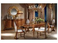 Carpanelli: Vanity: стол обеденный  раскладной (орех, золото)