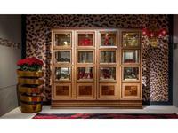 Carpanelli: Arts: витрина 4-х дверная  Quadrotti   (клен, орех)