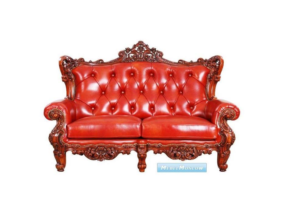 Alberto Grani: Middle: диван 2-х местный  (красное дерево) кожа