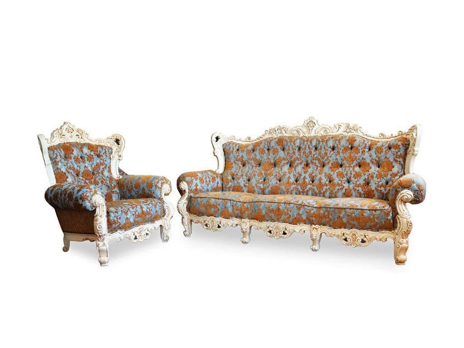 Alberto Grani: Middle: диван 2-х местный  (слоновая кость, ткань)