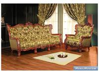 Alberto Grani: Lite: диван 3-х местный  (красное дерево) ткань