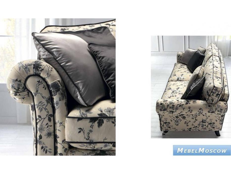 Siwa Zandarin: Taylor: диван 3-х местный на колескиках ткань Silver