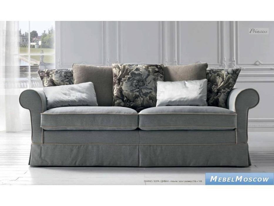 Siwa Zandarin: Princess: диван 3-х местный ткань Silver