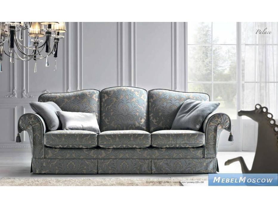 Siwa Zandarin: Palace: диван 3-х местный ткань Silver