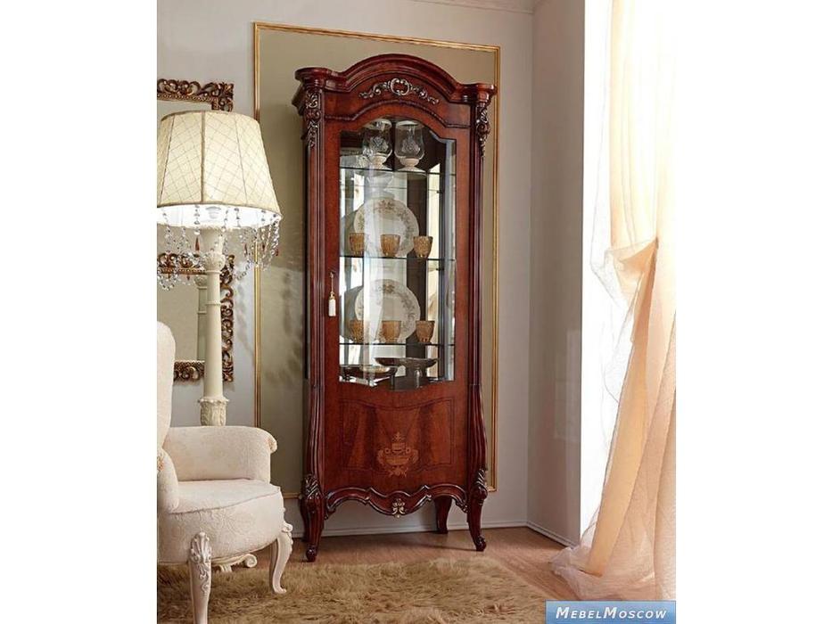 Barnini Oseo: Prestige: витрина 1 дверная  (орех, золото)
