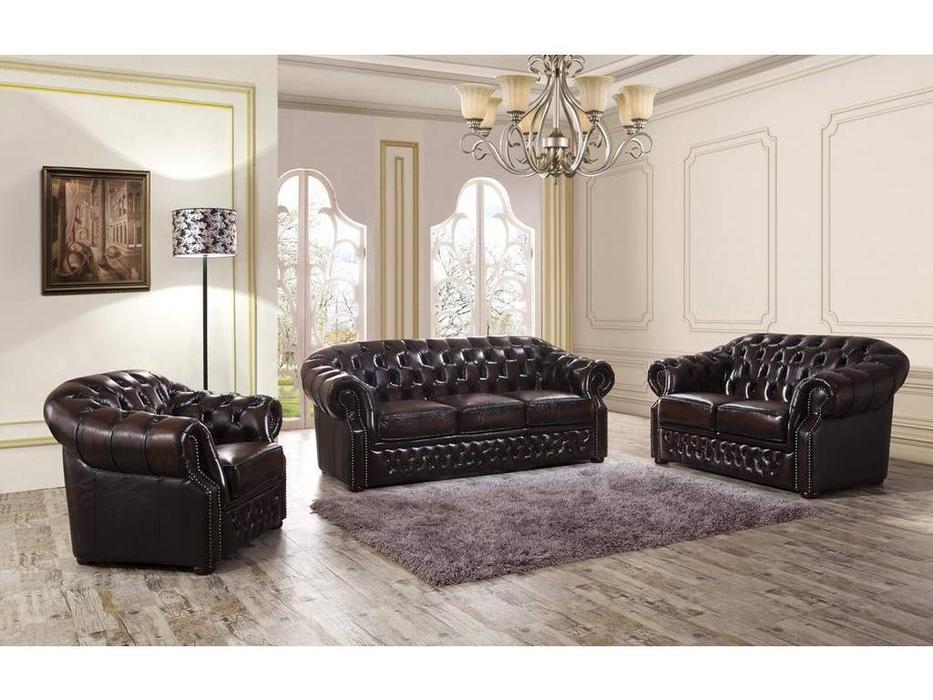 ESF: диван 2-х местный  (кожа)