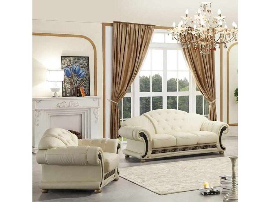 Dupen: Versace: диван 3-местный раскладной (белый)