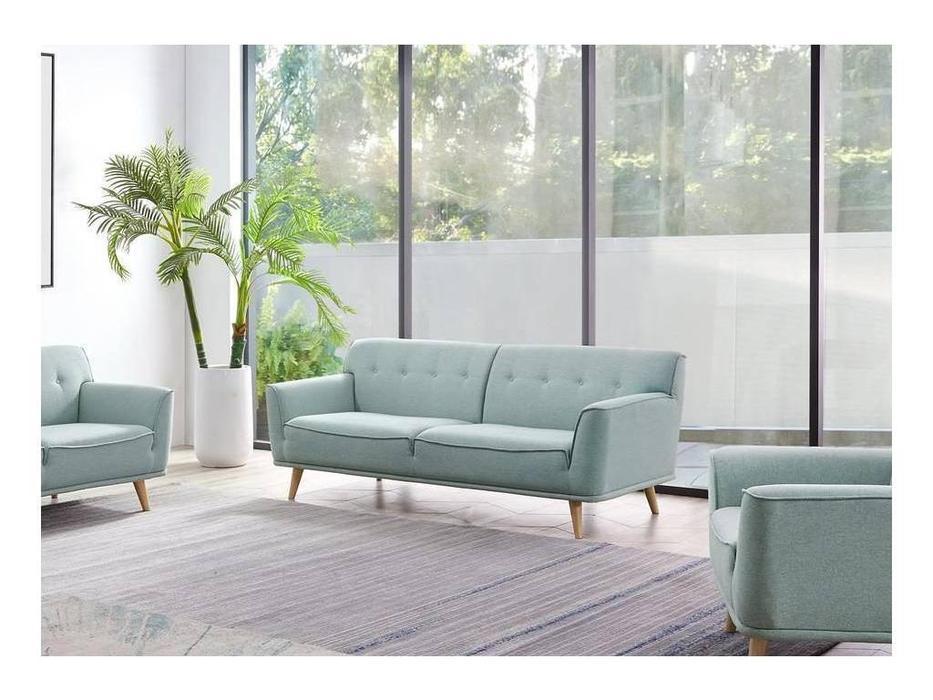 ESF: Florena: диван 3 местный (светло зеленый)