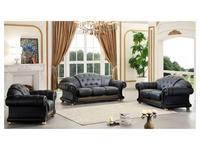 Dupen: Versace: диван 3-местный (черный)
