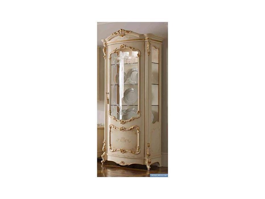 А и М Ghezzani: Роял: витрина 1 дверная  (слоновая кость, золото)