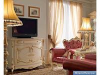 А и М Ghezzani: Роял: тумба под телевизор  (слоновая кость, золото)