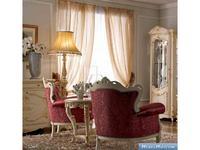 А и М Ghezzani: Роял: стол кофейный  (слоновая кость, золото)