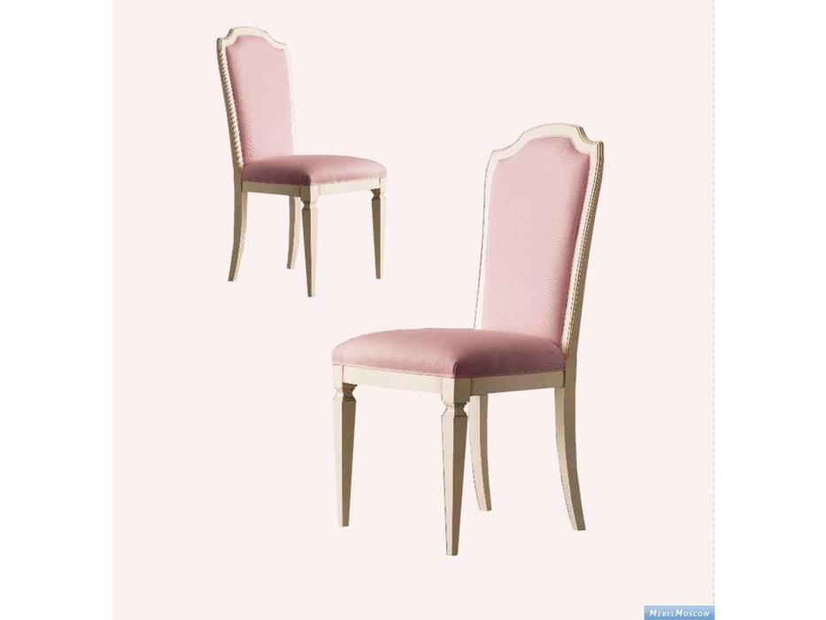 GiorgioCasa: Bimbi: стул  (слоновая кость, розовый) ткань