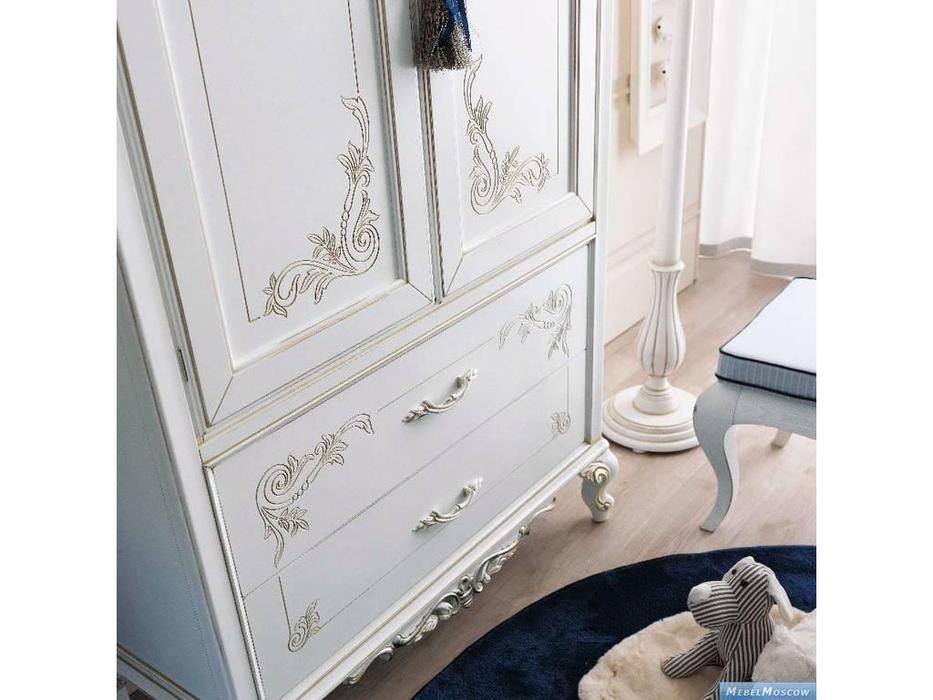 GiorgioCasa: Bimbi: шкаф 2-х дверный 2 ящика  (белый)