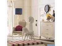 GiorgioCasa: Bimbi: кресло  (слоновая кость, беж) ткань