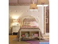 GiorgioCasa: Bimbi: кровать детская  (слоновая кость, серо розовый)