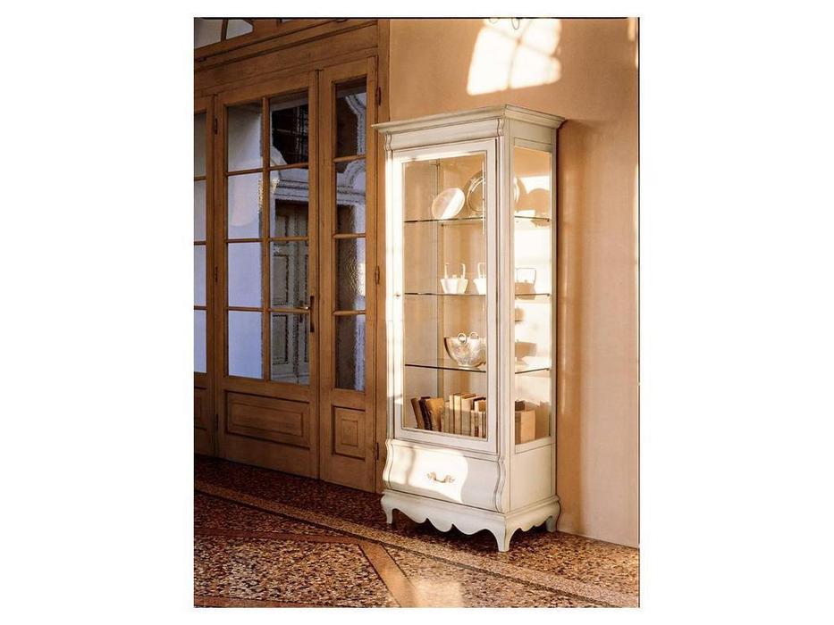 Cavio: Madeira: витрина 1 дверная 1 ящик левая  (белый, черешня)