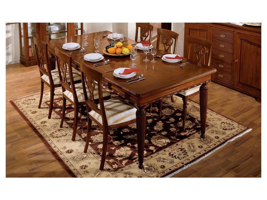 Cavio: Fiesole: стол обеденный Фиесоле прямоугольный раскладной 200/300  (орех фиорентино)