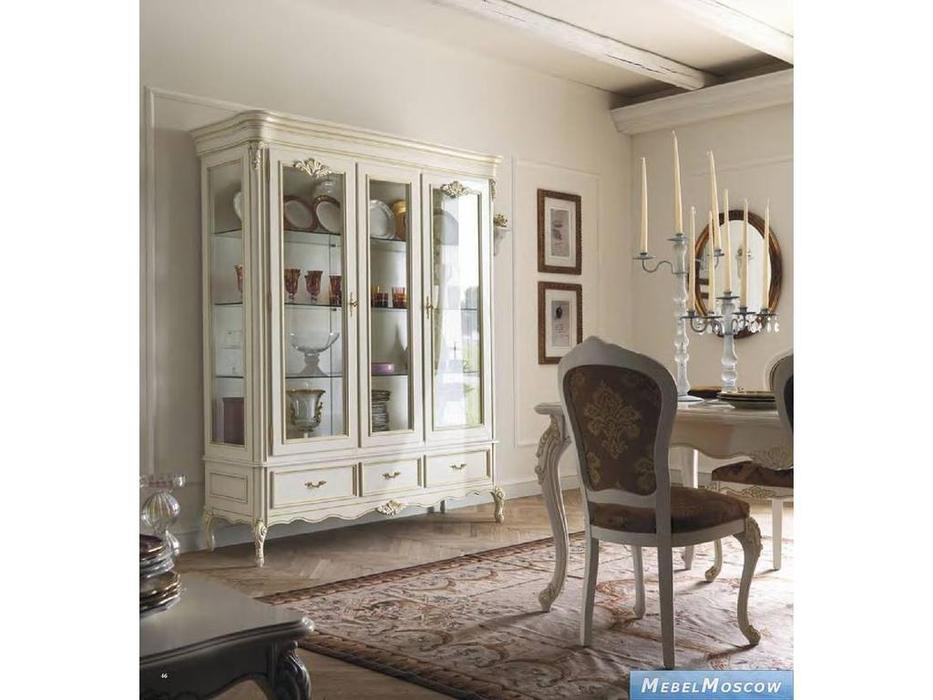 Cavio: Benedetta: витрина 2-х дверная  (слоновая кость, золото)
