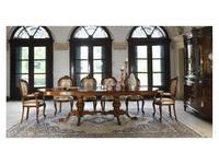 Cavio: Idogi: стол обеденный овальный раскладной с интарсией 200/300  (черешня)