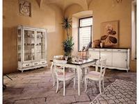 Cavio: Madeira Bianco: стол обеденный раскладной 110/190  (белый патинированный)