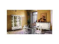 Cavio: Madeira Bianco: стол обеденный раскладной 180/280  (белый патинированный)