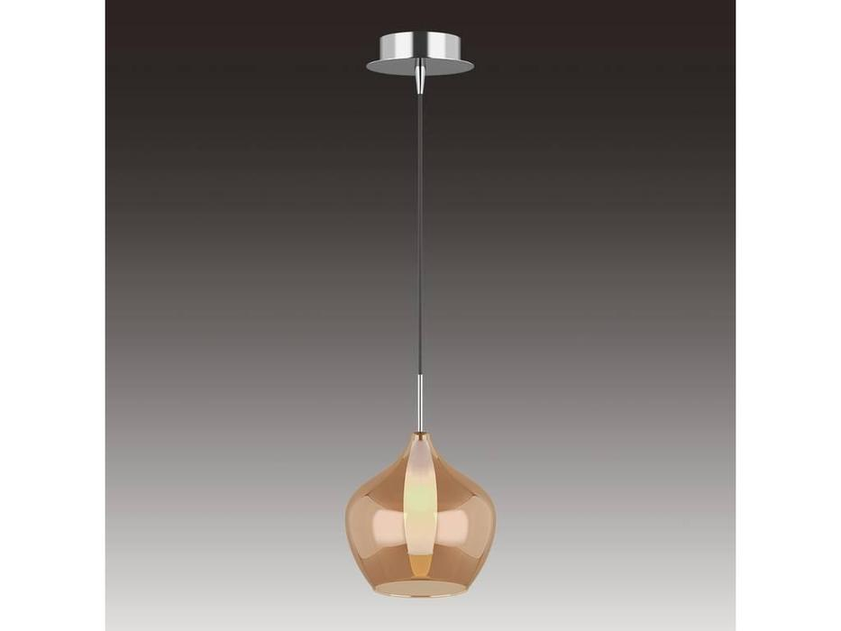 Lightstar: Pentola: люстра подвесная 1х25W G9 (хром, янтарь)