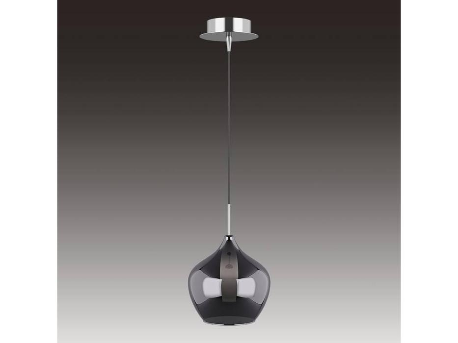 Lightstar: Pentola: люстра подвесная 1х25W G9 (хром, дымчатый)