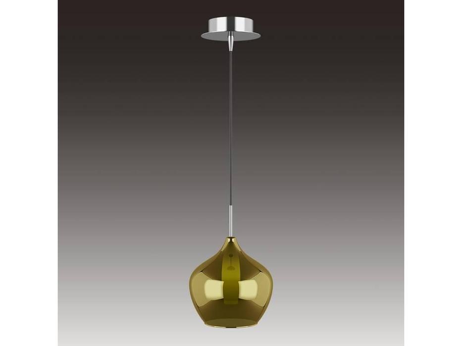 Lightstar: Pentola: люстра подвесная 1х25W G9 (хорм, оливковый)