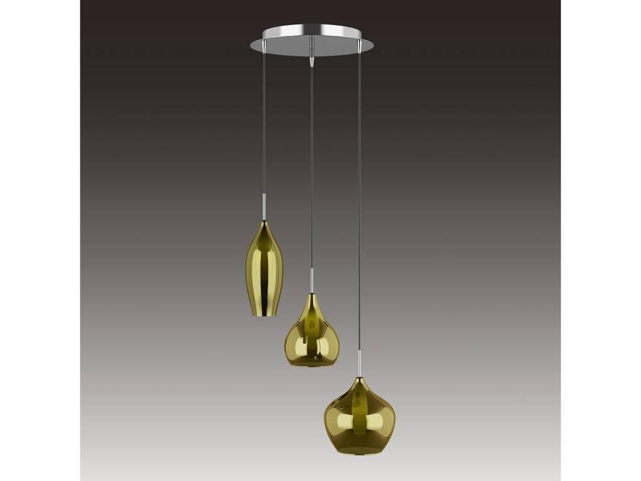 Lightstar: Pentola: люстра подвесная 3х25W G9 (белый, оливковый)