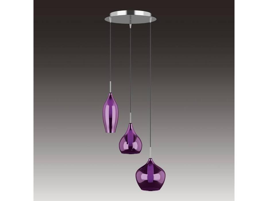 Lightstar: Pentola: люстра подвесная 3х25W G9 (белый, пурпур)