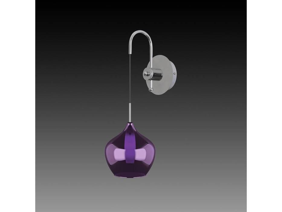 Lightstar: Pentola: бра 1х25W G9 (серебро, пурпур)