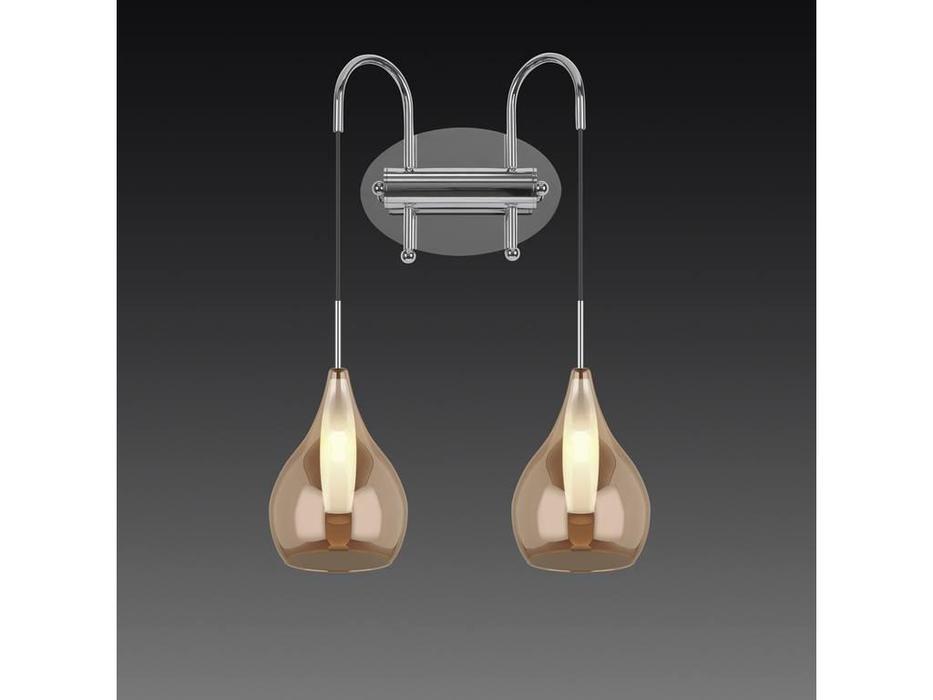 Lightstar: Pentola: бра 2х25W G9 (янтарь)
